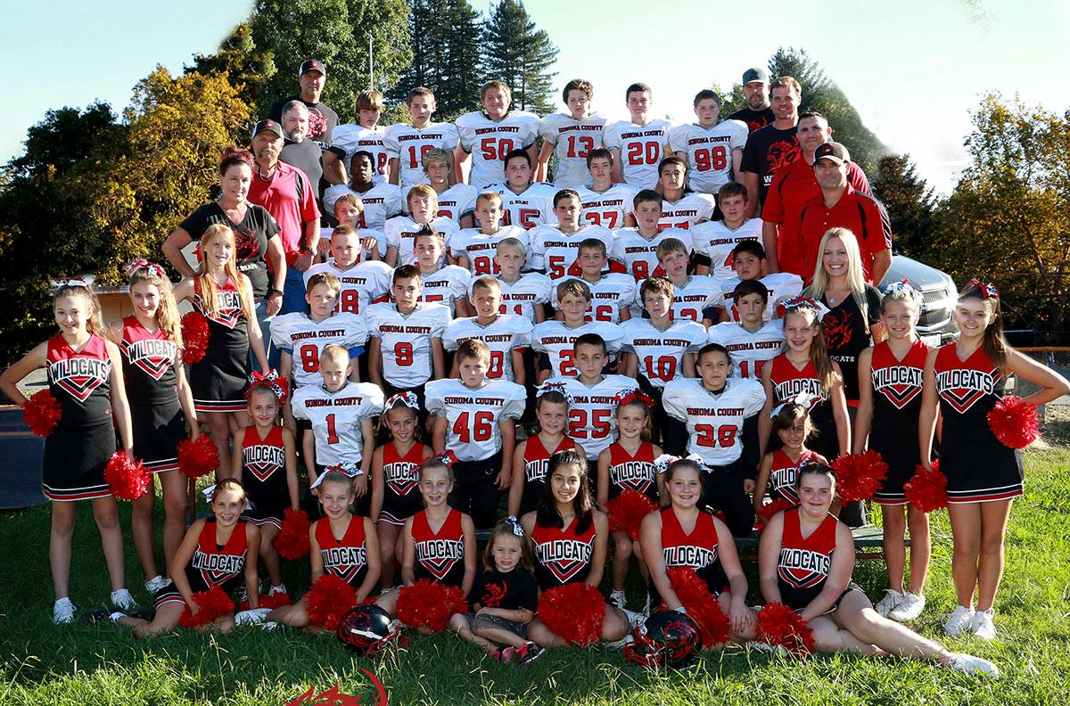 Sonoma County Football and Cheer Unity Photo - 2015